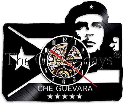 GYPPG Reloj de Pared Guba Xiao Zhong Héroes cubanos como Reloj de Pared de Vinilo Reloj de Pared de Mesa de cabecera Grande