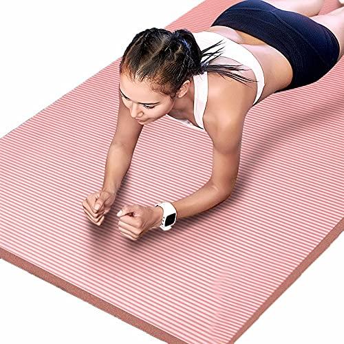 Esterilla de yoga antideslizante de 10 mm y 15 mm de grosor, para casa, gimnasio, deportes, mujeres, pérdida de peso, esterilla de ejercicio