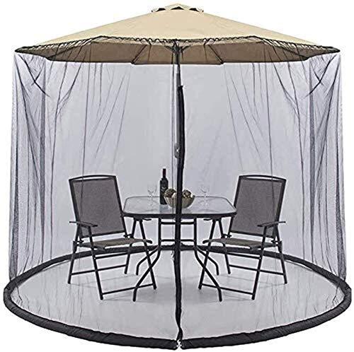 YAMMY Cubierta portátil para mosquitos de jardín, patio con diseño a prueba de insectos con cierre de malla para interiores y exteriores, campamento (red)