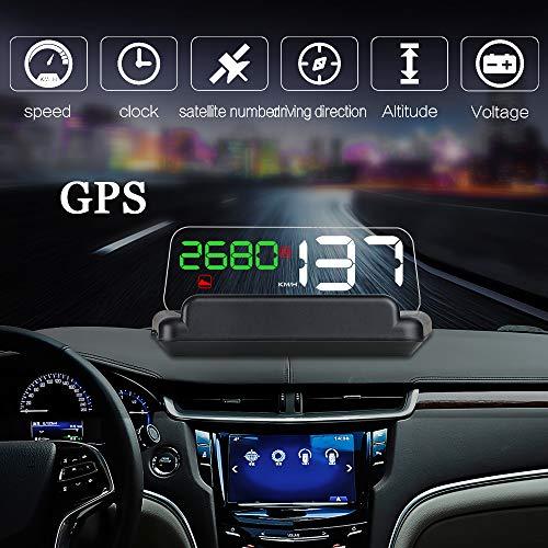 RGBS Auto HUD GPS Tacho Head Up Display Mit Reflexion Board Auto Geschwindigkeit Projektor Über Geschwindigkeitswarnung Für Alle Fahrzeug