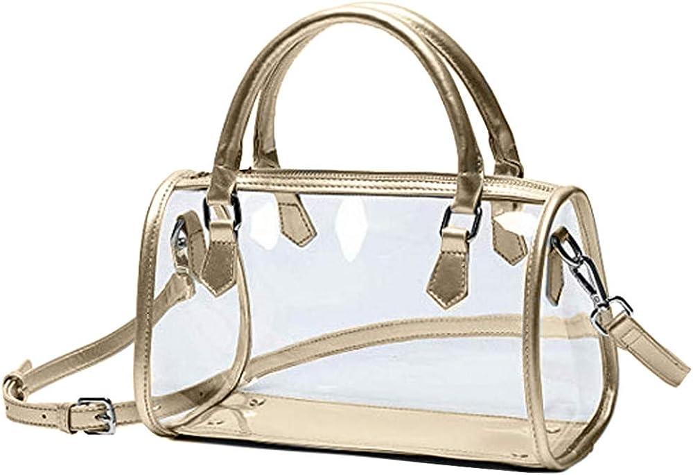 Women Clear Shoulder Bag Transparent Handbag and Purses PVC Crossbody Bag