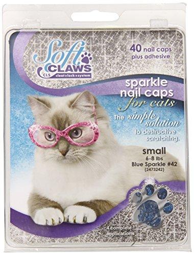 Feline Soft Claw Nail Caps S Blu Sprk