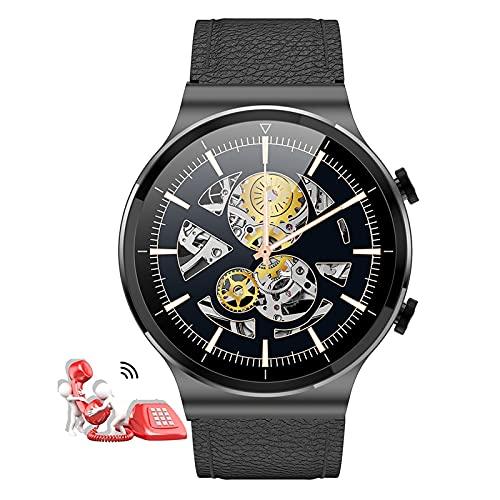 HQPCAHL Reloj Smartwatch Responder Llamadas,1,28'' Bluetooth Reloj Inteligente Medidor De Frecuencia Cardíaca Presión Arterial Oxígeno En Sangre Contador De Calorías