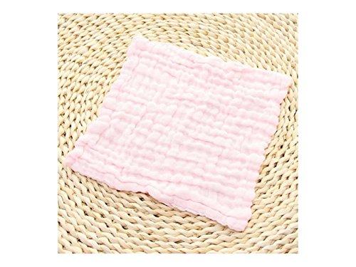 Salamii Weiches Handtuch Neugeborenen einfarbig schweißabsorbierend Wicking Handtuch Gaze Sweat Handtuch für 0-3 Jahre alt (Pink)...