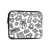 ビデオゲームの武器面白いゲーマー タブレットバッグ Ipad 収納袋 ライナーバッグ おしゃれ 軽量 シンプルさ ビジネスバッグ 防水 耐衝撃性 耐摩耗性 インナーバッグ