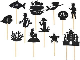 Generp La Petite Sirène Ombres Marionnettes, 12pcs Nuit Ombres Bâton Marionnettes Théâtre Enfants Contes De Fées Éducatifs...