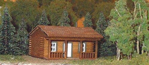 Train Time Laser N Scale Laser Cut Log Cabin - Model Train Kit
