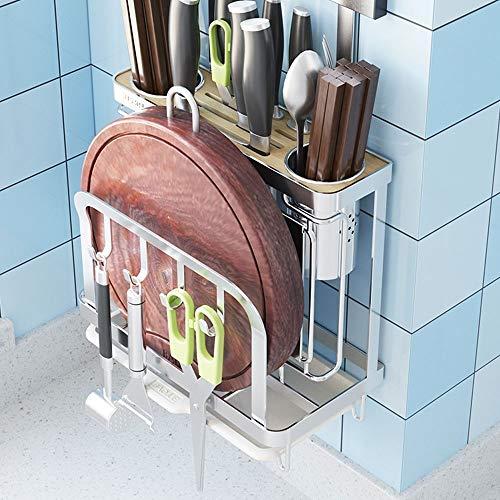 GHUS Creative Kitchen rekhuis roestvrij staal zilver waterdicht roest- gereedschap opslag rek multifunctioneel doorslagvrij wandbord display standaard snijden