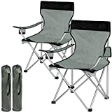 TecTake Chaise de Camping Fauteuil Pliable avec Porte-Boisson et Sac de Transport - diverses Couleurs et...