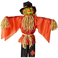 BCP Husker The Corn Keeper Animatronic Scarecrow Halloween Decor With LED Eyes