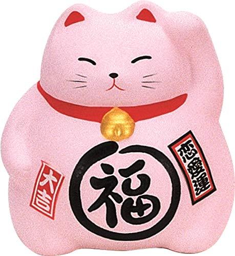 Maneki Neko (Tamaño Mediano), diseño de gato, color rosa love–9cm