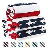 CABANANA Large Oversized Beach Towel - Velour Cotton Print 35 x...