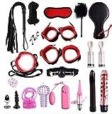 E-DIDI Yoga Sports Nylon Bundle Kit Yoga Bed Sports Juego de herramientas Kit Nylon Cuero Juego Juguetes, Vestido de Fiesta Lleno de Sorpresas (negro) A312
