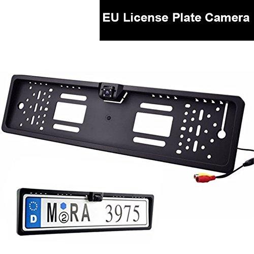 Auto Farb Rückfahrkamera EU Kennzeichen Nummernschild Halter Einparkhilfe Kamera LED Nachtsicht Wasserdicht Autoparksysteme