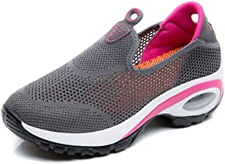 Bonrise Women's Slip On Wedges Sneaker Mesh Lightweight Comfort Platform Walking Shoes Slip-on Fitness Work Out Loafers Shoes