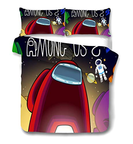 CCBZLY Bajo nosotros, juego de ropa de cama para niños de microfibra, con cremallera (M6,220 x 260 cm + 2 x 50 x 75 cm)