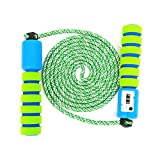 Sportplay - Comba con contador y asas cómodas y antideslizantes para hacer ejercicio y boxeo, azul y verde