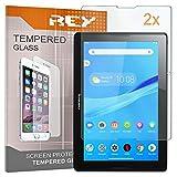2X Protector de Pantalla para Lenovo Tab 2 A10-70 10,1' Modelo A7600-F, Cristal Vidrio Templado Premium, Táblet