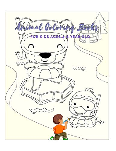 Animal Coloring Books For Kids Ages 4-8 Year Old: Animal Colouring Book Cartoon For Boys, Girls Toddlers & Teens Or Adult Best Xmas & Birthday Gifts With 100 Full Colour Pages Vol 19