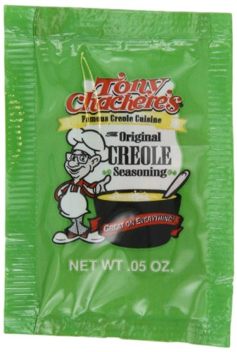Tony Chachere Original Creole Seasoning, 0.05-Ounce, 1000-Count Bags