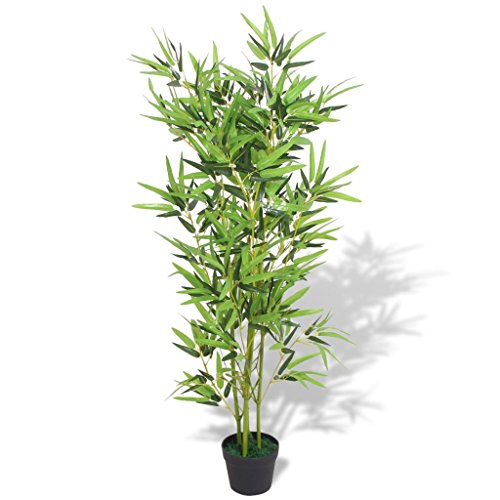 UnfadeMemory Árbol de Bambú,Planta Artificial Decorativa,Decoración de Hogar Oficina,con Macetero,Hojas de Tela,Tronco…