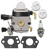 Carburador con Filtro de Aire Combustible Obturador Bujía Kit for STIHL FS38 FS45 FS46 FS55 FS85 km55
