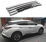 2pcs Superior de Aluminio del Techo del Carril Barras de Techo del Carril Lateral Barra en Forma for Nissan- Murano 2015-2020 - Plata (Color : Silver)