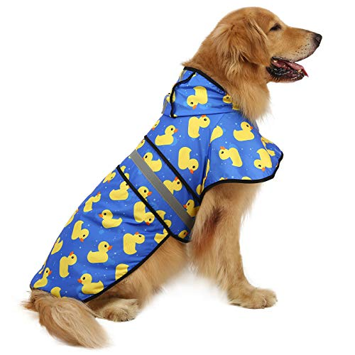HDE Dog Raincoat Hooded Slicker Poncho for Small to X-Large Dogs and...