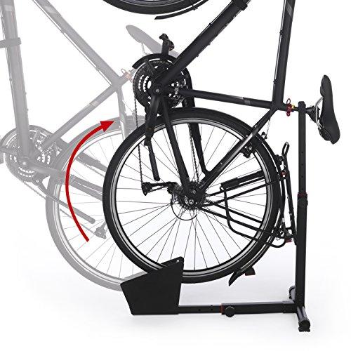 EASYmaxx Hinterradständer Fahrradständer für Wohnung und Keller aus Stahl - 4