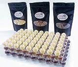 Schokoladen Pralinen Hohlkugeln mit Schokolade - Kuvertüre