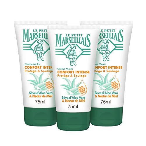 Petit Marseillais Hypo Confort Intense Aloe Honig Handcreme, Tube 75 ml, 3 Stück