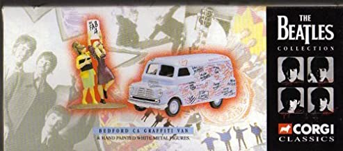Corgi Classics, The Beatles Collection, Bedford CA Graffiti Van & Hand Painted White Metal Figures by Corgi