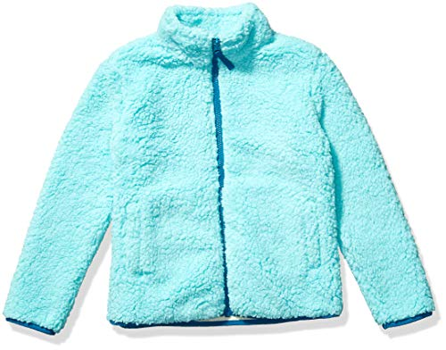 Amazon Essentials Full-Zip High-Pile Polar Fleece outerwear-jackets, aqua, X-Small