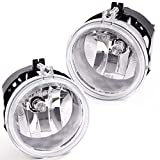 2Pcs Driving Fog Lights Assembly Replacement For Dodge Grand Caravan Caliber Nitro Challenger / Jeep Patriot Compass /Chrysler Town & Country Sebring Replaces 5182025AA, CH2592142