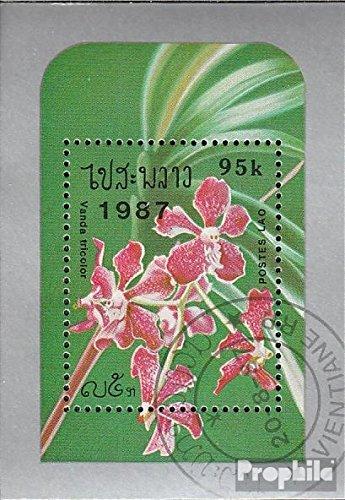 Laos Mi.-Aantal.: Block 118 (compleet.Kwestie.) 1987 Orchideeën (Postzegels voor verzamelaars) plant