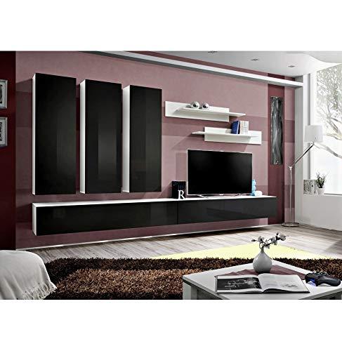 Ensemble TV - 6 éléments - Noir et blanc