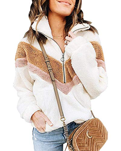 ABINGOO Chaquetas de Puente para Mujer Jersey Otoño Invierno Cremallera de Engrosamiento Al Aire Libre Sudadera de Lana Polar Sudadera Ligera Abrigo Informal
