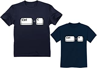 Copy Paste Matching Set T-Shirts for Father & Son/Daughter Toddler & Men's Set