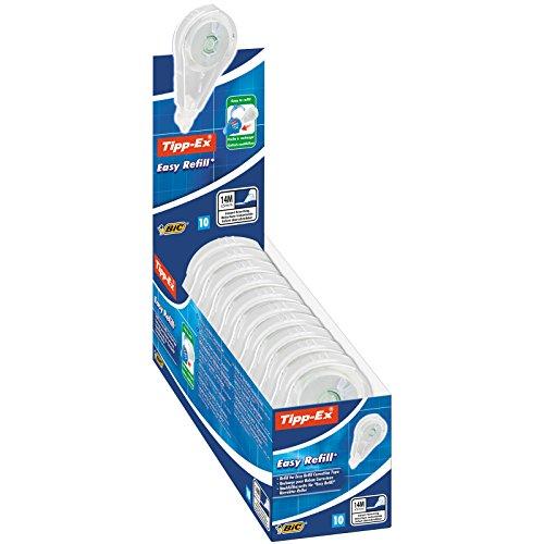 Tipp-Ex ECOlutions Nachfüllkassette für Easy Refill, 10er Pack Korrekturroller, Korrekturband à 14 m x 5 mm