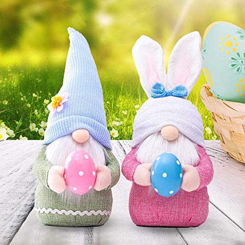 Easter Day Gnome Gonk Decorations Mr. and Mrs. Handmade Plush Novelty Table Ornament, Boy or Girl Gift Present One Supplied Choose between boy or girl (2 Pack - Girl & Boy)