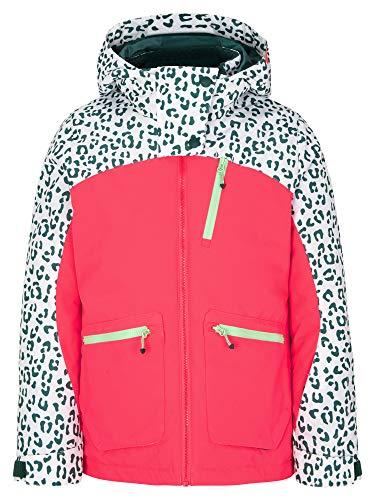 Ziener Mädchen ANTALIA Junior Kinder Skijacke, Winterjacke | Wasserdicht, Winddicht, Warm, neon pink, 176