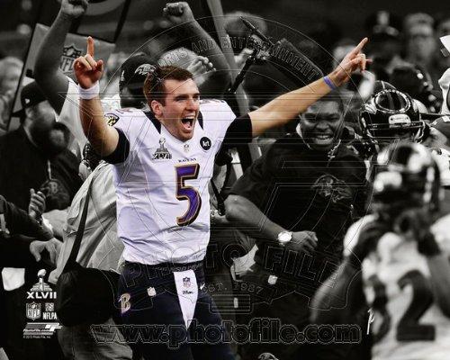 Joe Flacco AAPP033 Foto Baltimore Ravens, 20,3 x 25,4 cm