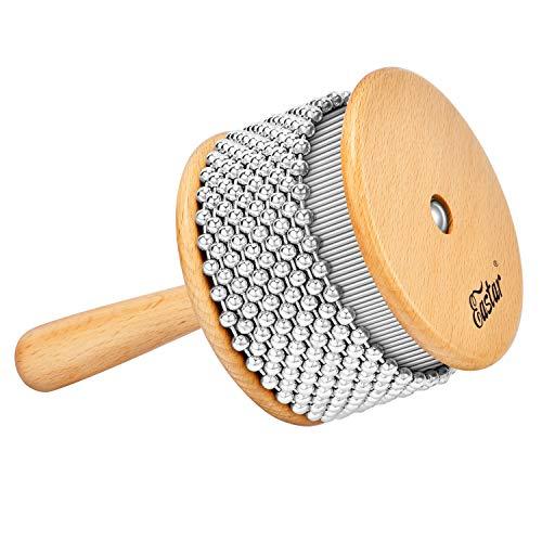 Eastar Cabasa Hand Shaker Kinder Percussion Instrument für Anfänger, 18 cm x 11 cm