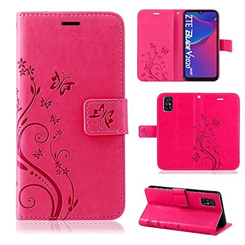 betterfon Handyhülle für ZTE Blade V2020 Smart, Hülle Blade V2020 Smart Flip Hülle Klapphülle Schutzhülle mit [Kartenfächern] Kompatibel für ZTE Blade V2020 Smart Pink