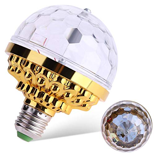 Hasde Party Lights Activated Disco Ball with Rotating Crystal Magic Ball RGB LED Stage Light for Home Room Dance Parties Birthday DJ Bar Karaoke Xmas Wedding Show Club Pub