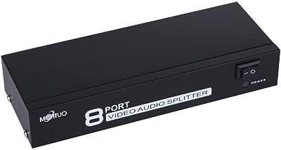 E-SDS 1 en 8 fuera Amplificador divisor de audio y video RCA AV para Cable Box DVD DVR Analog TV