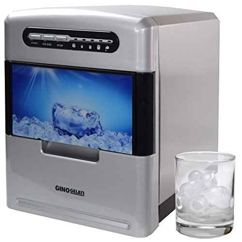 Gino Gelati GG-185W Edelstahl Eiswürfelbereiter Eiswürfelmaschine Icemaker