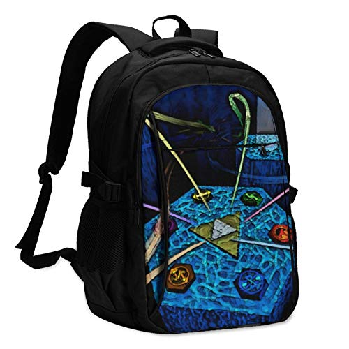 Games Legend of Zelda Laptop Backpack Anti Theft Water Resistant Durable Computer Bag USB Charging Port Fits 15.6 Inch Laptop and Notebook College School Business Travel