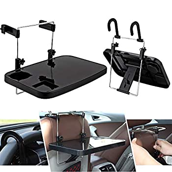 CPROSP Car Desk Folding Car Lunch Desk Portable Car Steering Wheel Seat Tray with Cup Holder Car Seat Table for Writing Working Drinking Dinning