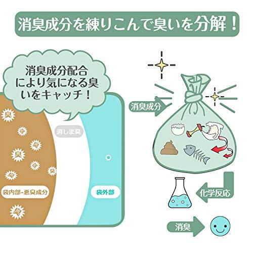 HAPGO防臭袋消臭袋生ゴミが臭わない袋生ゴミ処理袋(Sサイズ200枚入り)ゴミ袋おむつが臭わない袋赤ちゃん用ペットのうんちが臭わない袋おむつポリ袋白(200枚S(20cm×30cm))